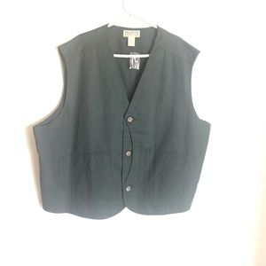 Duluth Trading Co Green Work Utility Safari Vest